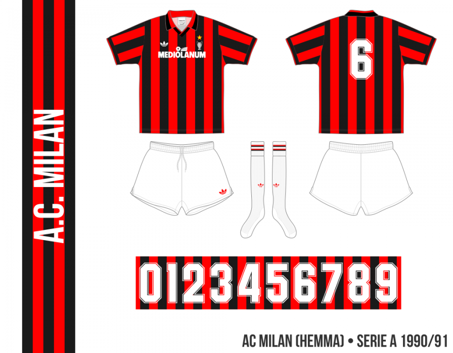 AC Milan 1990/91 (hemma)