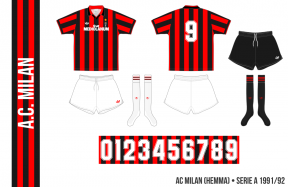 AC Milan 1991/92 (hemma)