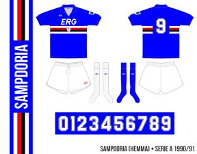 Sampdoria 1990/91 (hemma)