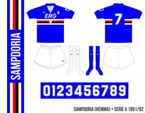 Sampdoria 1991/92 (hemma)