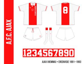 Ajax 1991–1993 (hemma)