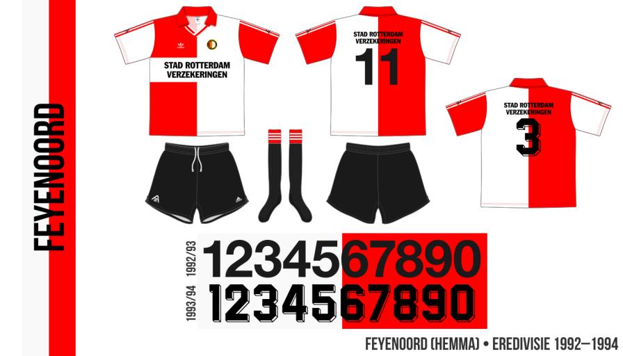 Feyenoord 1992–1994 (hemma)