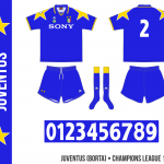 Juventus 1995/96 (Champions League, borta)