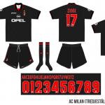 Milan 1997/98 (tredjeställ)