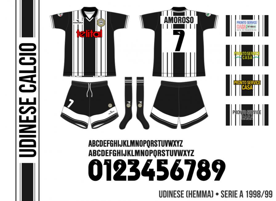 Udinese 1998/99 (hemma)