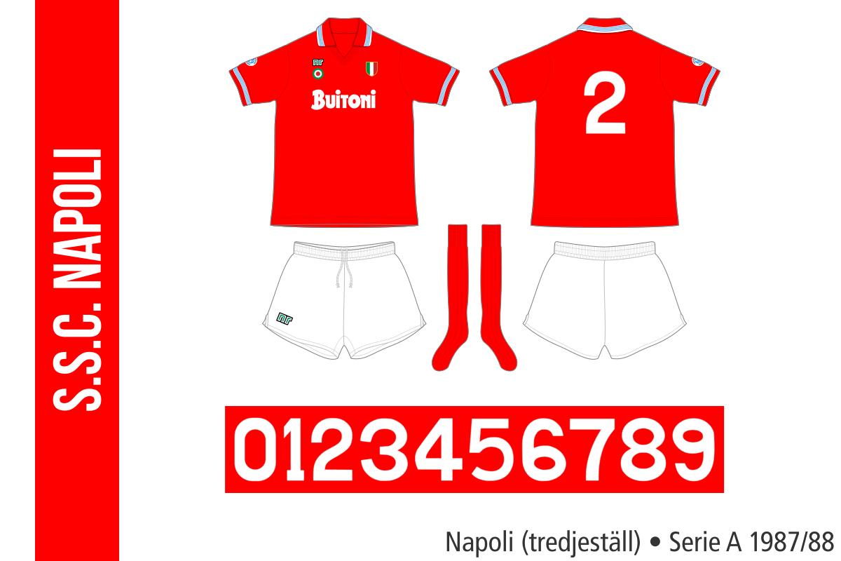 Napoli 1987/88 (tredjeställ)