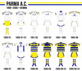 Parmas hemmaställ på 1990-talet