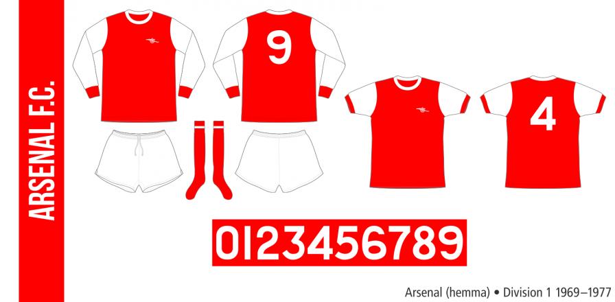 Arsenal 1969–1977 (hemma)