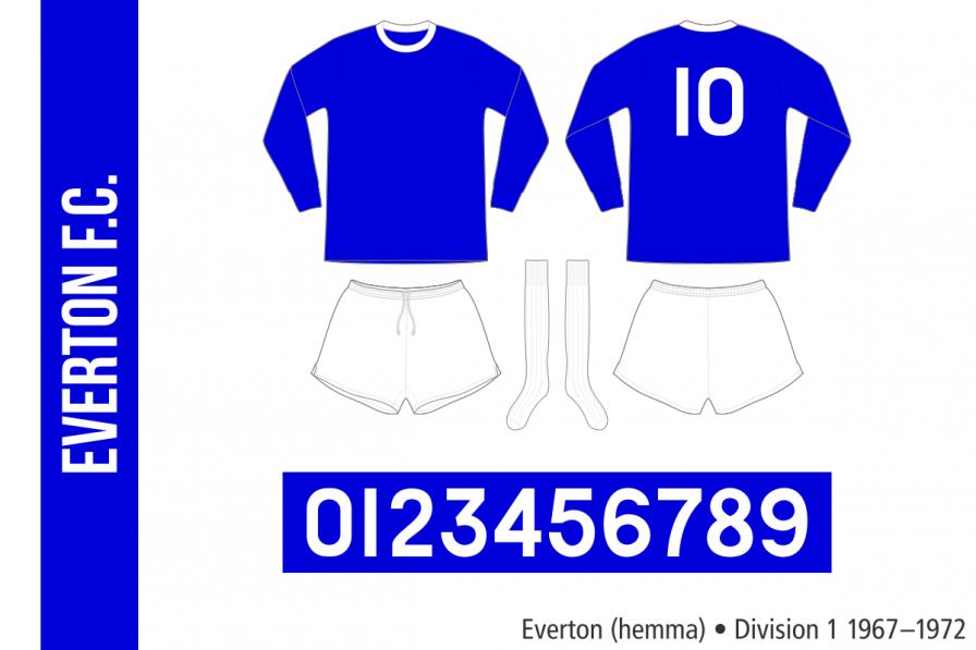 Everton 1967–1972 (hemma)