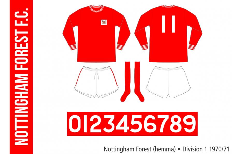 Nottingham Forest 1970/71 (hemma)