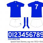 Ipswich- Town 1972/73 (hemma, hösten 1972)