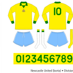 Newcastle United 1973–1975 (borta)