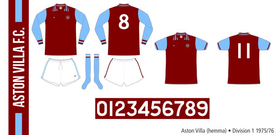 Aston Villa 1975/76 (hemma)