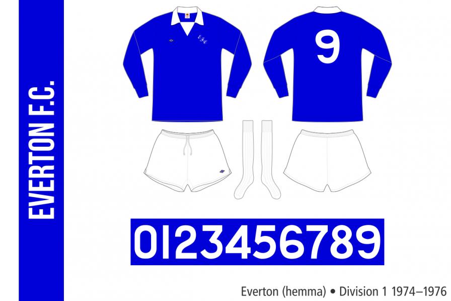 Everton 1974–1976 (hemma)