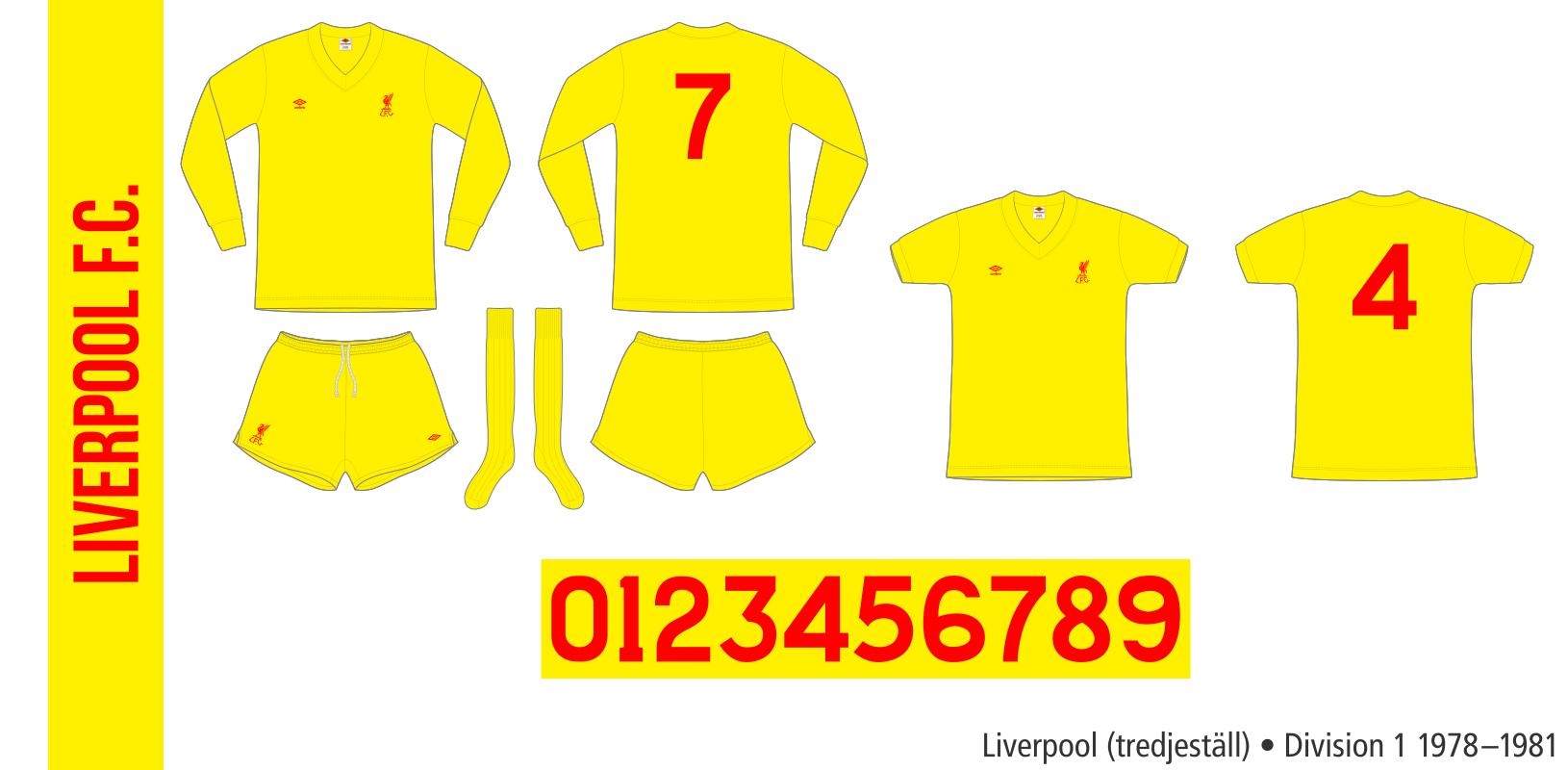 Liverpool 1978–1981 (tredjeställ)