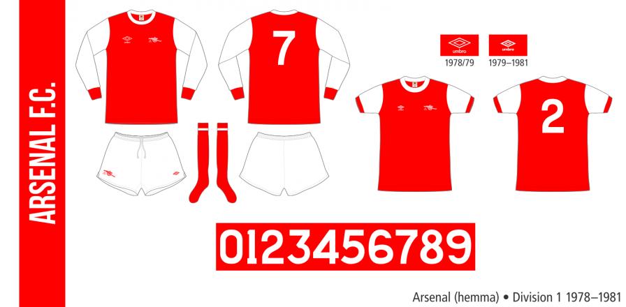 Arsenal 1978–1981 (hemma)