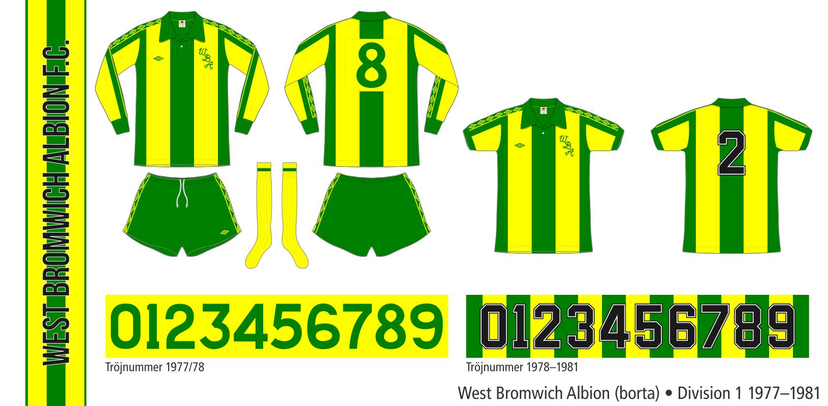 West Bromwich Albion 1977–1981 (borta)