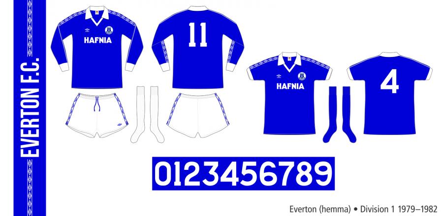 Everton 1979–1982 (hemma)