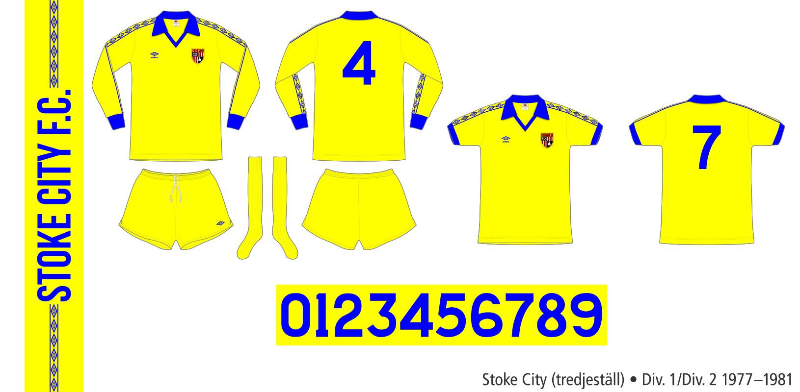 Stoke City 1977–1981 (tredjeställ)
