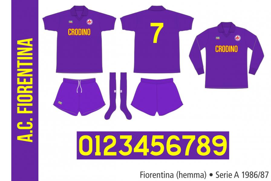 Fiorentina 1986/87 (hemma)