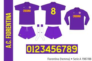 Fiorentina 1987/88 (hemma)