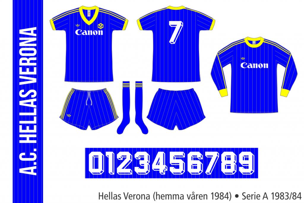 Hellas Verona 1983/84 (hemma våren 1984)