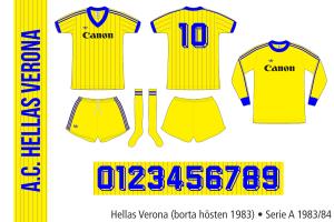 Hellas Verona 1983/84 (borta hösten 1983)
