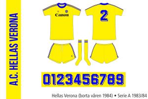 Hellas Verona 1983/84 (borta våren 1984)