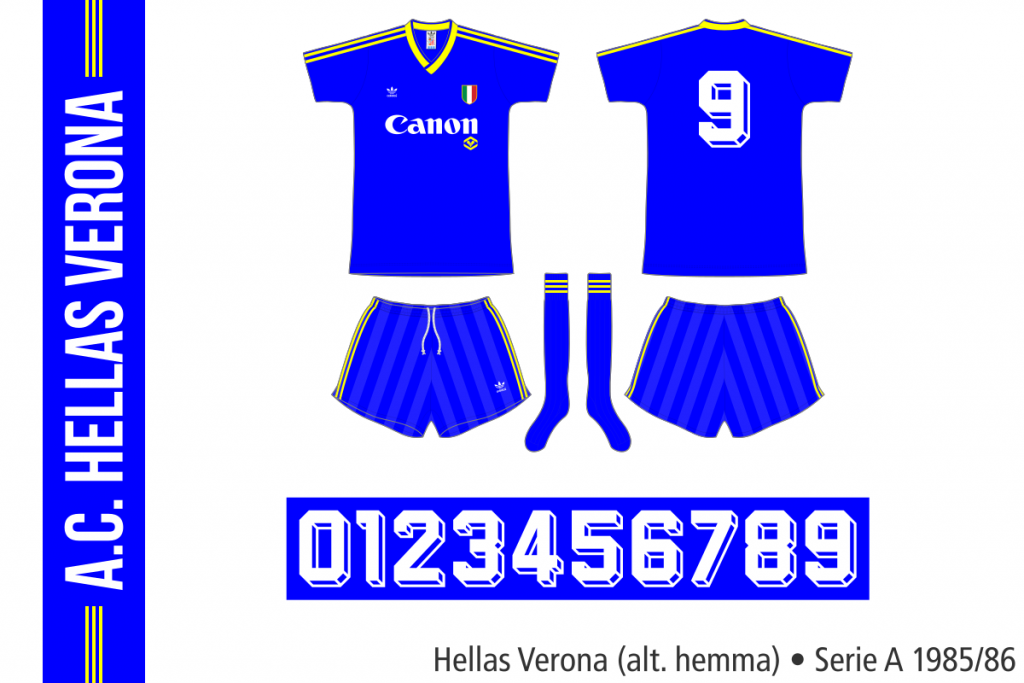 Hellas Verona 1985/86 (alternativ hemma)