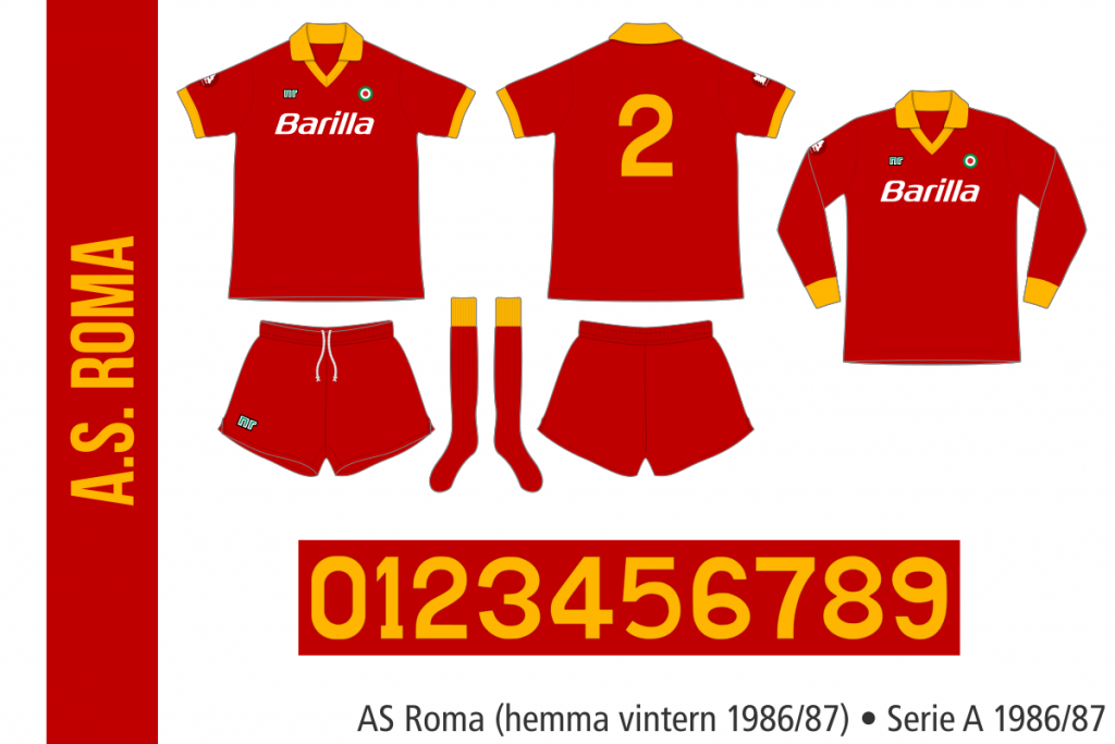 AS Roma 1986/87 (alternativ hemma)