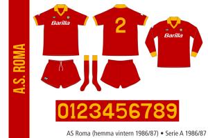 AS Roma 1986/87 (alternativ hemma)