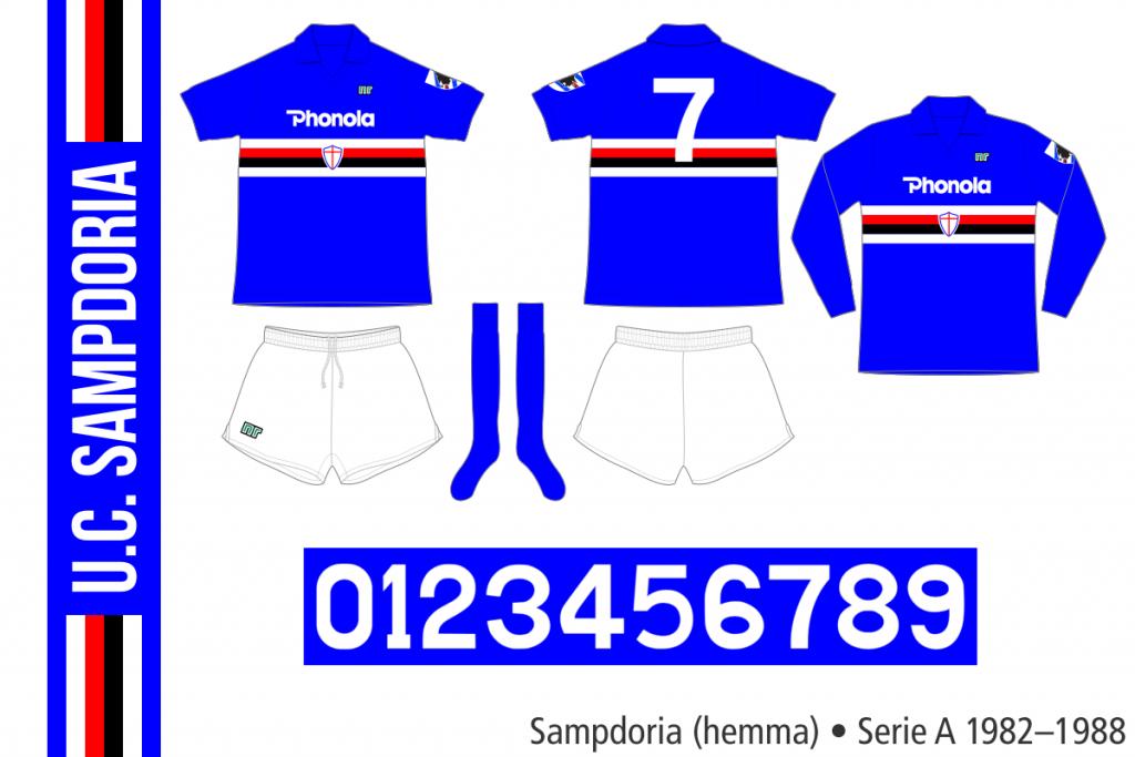 Sampdoria 1982–1988 (hemma)