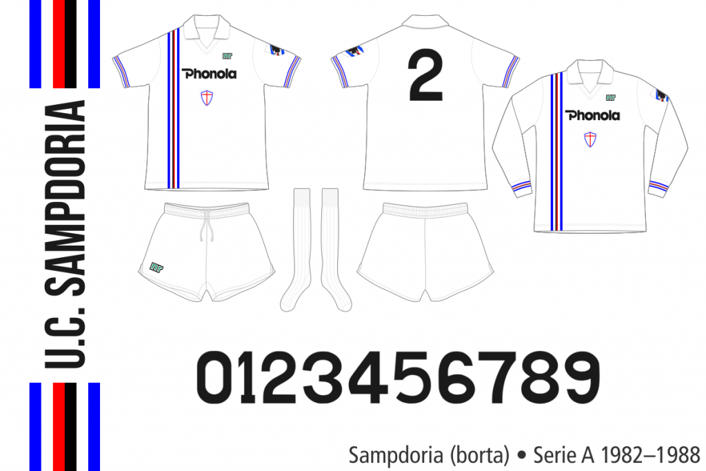 Sampdoria 1982–1988 (borta)