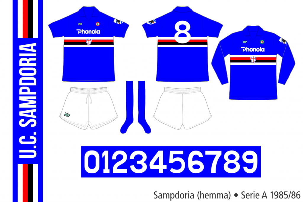 Sampdoria 1985/86 (hemma)