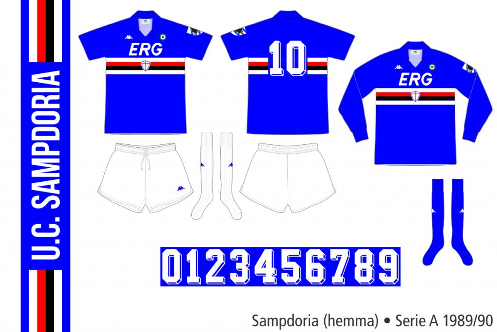Sampdoria 1989/90 (hemma)