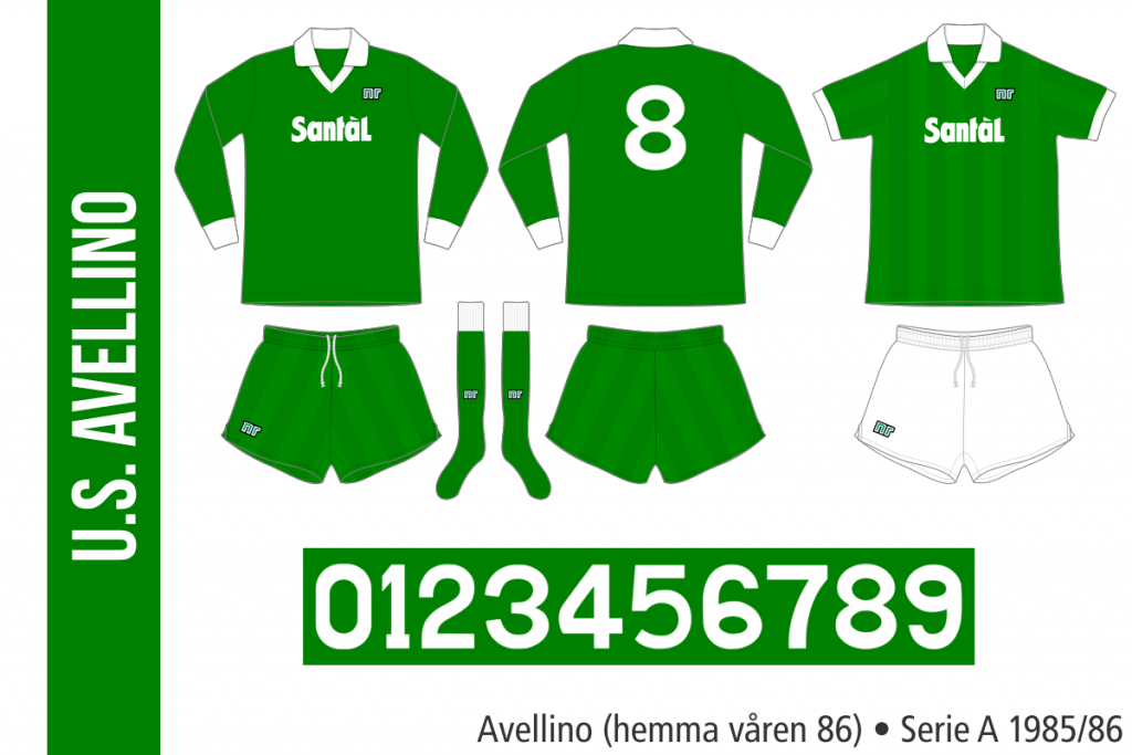 Avellino 1985/86 (hemma våren 86)