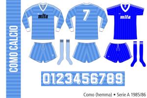 Como 1985/86 (hemma)