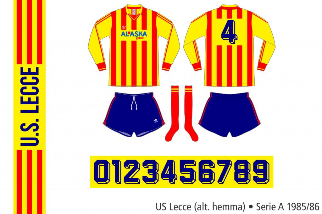 Lecce 1985/86 (alternativ hemma)