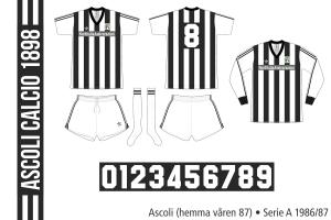Ascoli 1986/87 (hemma våren 1987)