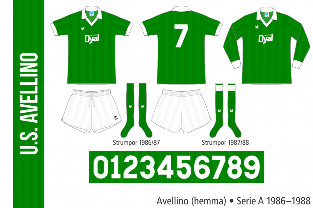 Avellino 1986–1988 (hemma)