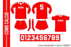 Como 1986/87 (tredjeställ)