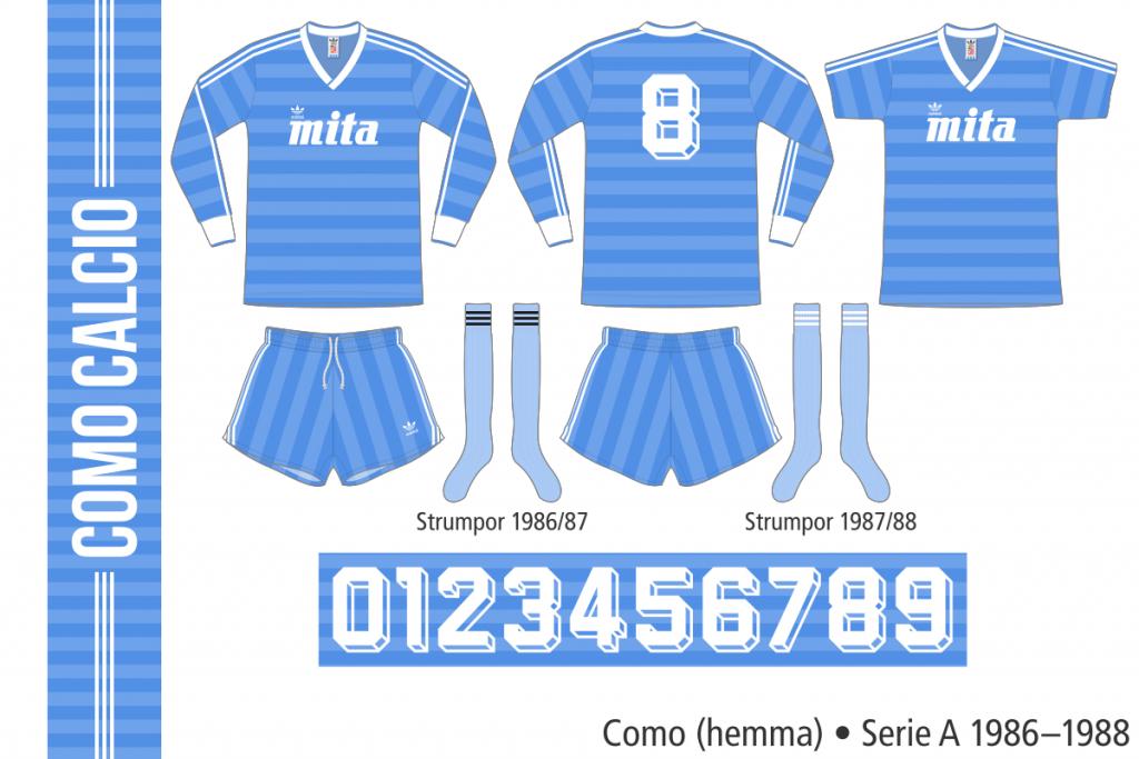 Como 1986–1988 (hemma)