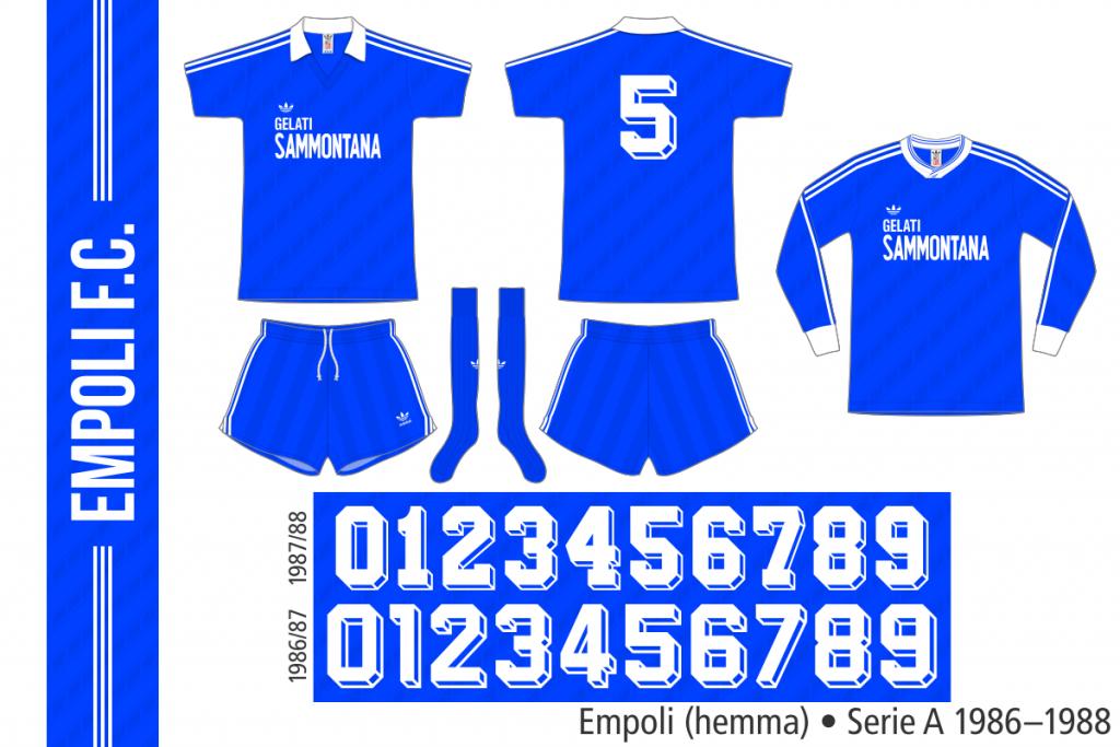 Empoli 1986–1988 (hemma)