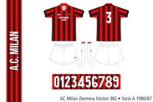 AC Milan hösten 1986 (hemma)