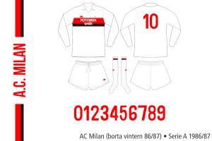 AC Milan vintern 1986/87 (borta)