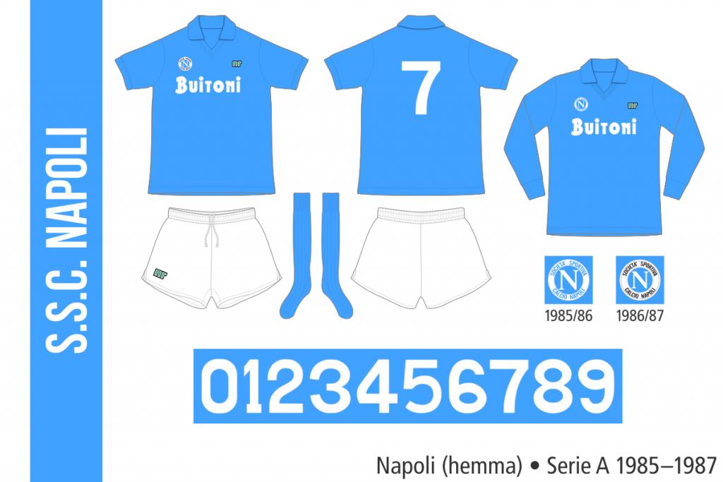 Napoli 1985–1987 (hemma)