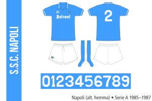 Napoli 1985–1987 (alternativ hemma)