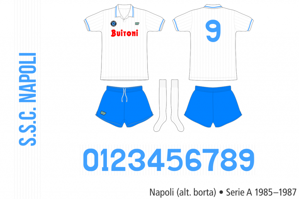 Napoli 1985–1987 (alternativ borta)