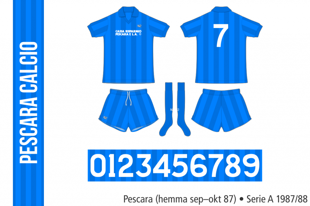 Pescara 1987/88 (hemma september–oktober 87)
