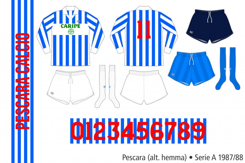Pescara 1987/88 (alternativ hemma, långärmad)